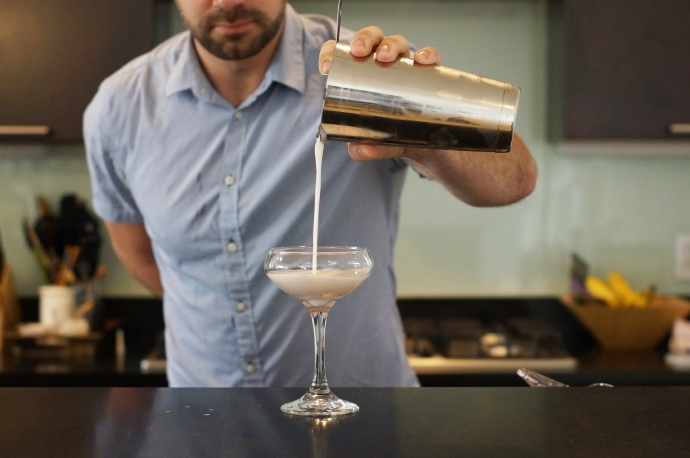 Home Bar Project: How to Make a Clover Club