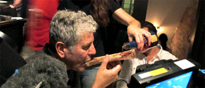Bone Luge Hits the Big Time With Anthony Bourdain