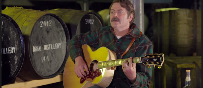 Nick Offerman of 'Parks and Recreation' Sings a Ballad Dedicated to Whiskey