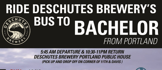Climb Aboard the Bus to Bachelor with Deschutes Brewery