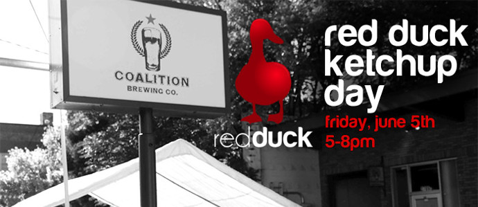 Celebrate Red Duck Ketchup Day at Coalition Brewing, June 5