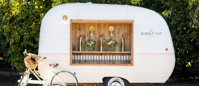 You Can Rent a 'Bubble Tap Trailer' To Serve Up Prosecco On the Go