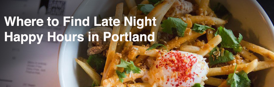 Portland Late Night Happy Hours Cover